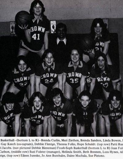 1978 Varsity Girls Basketball