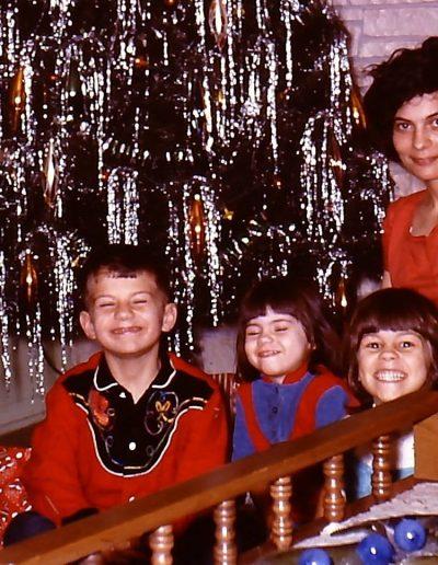 Robert, Teresa, Barbara and Vera Issel Christmas 1965