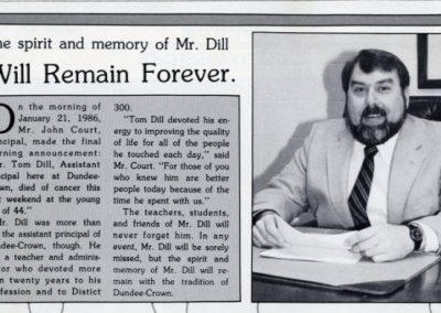 In Memory of Tom Dill